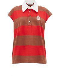 Matthew Adams Dolan Sleeveless Striped-cotton Rugby Shirt - Brown