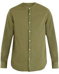 Officine Generale - Gaspard Stand-collar Cotton Shirt - Lyst