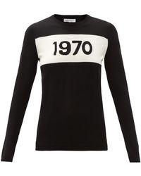 Bella Freud 1970 ウールセーター - ブラック