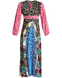 Duro Olowu - Ivy Contrast-panel Silk Dress - Lyst