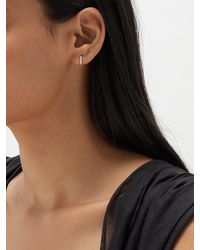 Maria Tash Eternity Diamond & 18kt White Gold Earring - Metallic