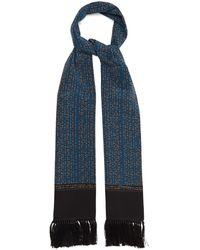 Dolce & Gabbana タッセル シルクサテンスカーフ - ブルー