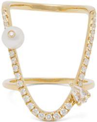 Miu Miu Anahata Diamond, Sapphire, Opal & 18kt Gold Ring - Pink