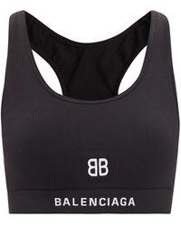 Balenciaga ロゴ コットンブレンド スポーツブラ - ブラック