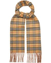 cashmere classic vintage check scarf - Brown Burberry bJH22S