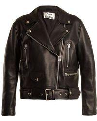 Acne Studios - Merlyn Oversized Leather Biker Jacket - Lyst