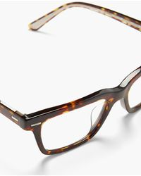The Row Lunettes rectangulaires BA CC x Oliver Peoples - Marron