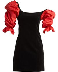 Isa Arfen - Drama Sleeve Velvet Mini Dress - Lyst