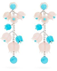 Irene Neuwirth Diamond, Opal, Turquoise & 18kt Gold Earrings - Multicolour