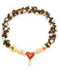 Heimat Atlantica - Iris Embellished Shell Necklace - Lyst