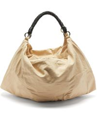 Lemaire - Large Braided-handle Cotton-blend Twill Tote Bag - Lyst