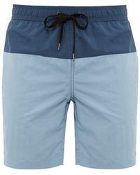 Onia Charles Colour-block Shell Swim Shorts - Blue