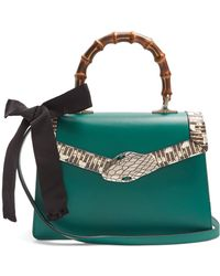 Gucci - Lilith Small Bamboo Handle Leather Bag - Lyst