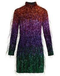 Ashish - Tinsel Sequin Embellished Silk Georgette Dress - Lyst