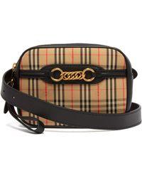 Burberry - Haymarket Check Leather Belt Bag - Lyst