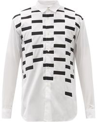 Comme des Garçons - Comme Des Garçons Shirt ジオメトリックパッチワーク コットンポプリンシャツ - Lyst