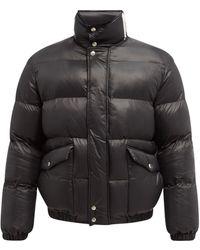 Alexander McQueen オーバーサイズ キルティングジャケット - ブラック