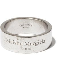 Maison Margiela - Bague en argent à logo gravé - Lyst