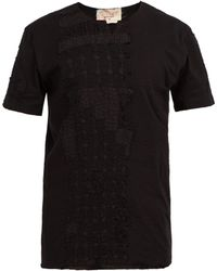 By Walid - Xavier Embroidered Cotton T Shirt - Lyst
