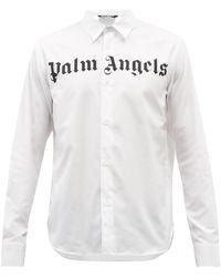 Palm Angels コットンポプリン シャツ - ホワイト
