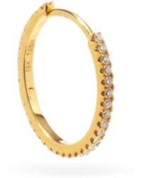 Maria Tash - Créole en or 18 carats et diamants Eternity - Lyst
