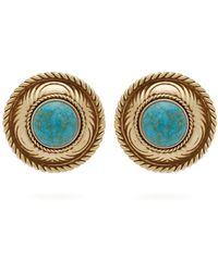 Etro - Stone Embellished Stud Earrings - Lyst