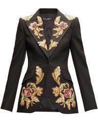 Dolce & Gabbana - スパンコール ウールブレンドジャケット - Lyst