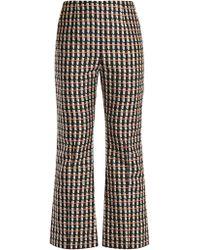 Marni - Ripple-print Kick-flare Cotton-blend Trousers - Lyst