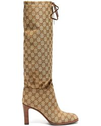 Gucci - 85mm Lisa Gg Supreme Canvas Boots - Lyst