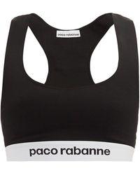 Paco Rabanne ロゴジャカード スポーツブラ - ブラック