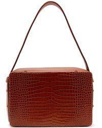 Lutz Morris - Tate Medium Crocodile-effect Leather Shoulder Bag - Lyst