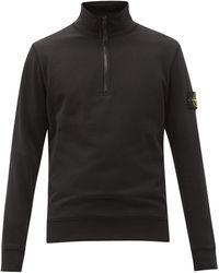 Stone Island - Sweat-shirt en jersey de coton à empiècement logo - Lyst