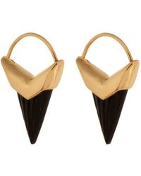 Theodora Warre - Onyx And Gold-plated Earrings - Lyst