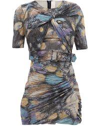 Peter Pilotto Twist-front Metallic-jersey Mini Dress - Multicolour
