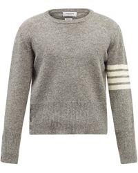 Thom Browne 4bar ウールセーター - グレー