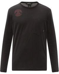 Stone Island Shadow Project ロゴプリント コットン ロングスリーブtシャツ - ブラック