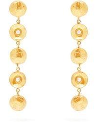 Sylvia Toledano Pearl Disc-charm Drop Earrings - Metallic