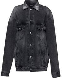 Balenciaga オーバーサイズ デニムジャケット - マルチカラー