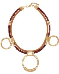 Chloé - Sawyer Bead And Hoop Necklace - Lyst