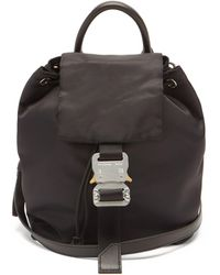 1017 ALYX 9SM Rollercoaster-buckle Recycled-shell Cross-body Bag - Black