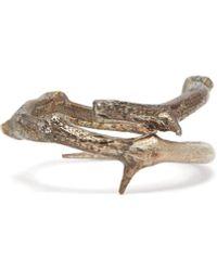 Pearls Before Swine Thorn Oxidised Sterling-silver Ring - Metallic