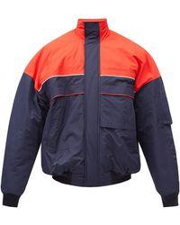 Balenciaga オーバーサイズ ボンバージャケット - ブルー