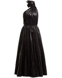 CALVIN KLEIN 205W39NYC - Tie-neck Nylon A-line Dress - Lyst