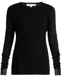 Proenza Schouler - Long Sleeved Cotton Gauze Top - Lyst