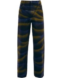 Eckhaus Latta Atmospheric Hand-dyed Wide-leg Jeans - Black
