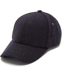 Paul Smith Artist Striped Mélange Wool Baseball Cap - Blue