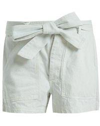 Apiece Apart - Merida High-rise Denim Shorts - Lyst