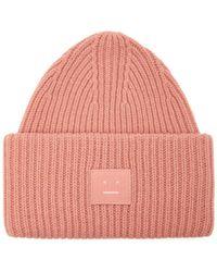Acne Studios - Pansy N Face Beanie In Pale Pink Wool - Lyst 61ee91fdd025
