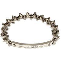 Alexander McQueen ミニ スカル メタルブレスレット - ブラック