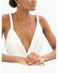 Spinelli Kilcollin Akoya Gravity Pearl & 18kt Gold Chain Necklace - Metallic